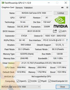 Review: EVGA GeForce GTX 1050 SC Gaming - Graphics - HEXUS