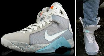64878c8682e8 The basketball-shoe features McFly-like colours and teases